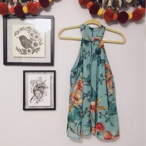 Japna Sleeveless Floral Blouse